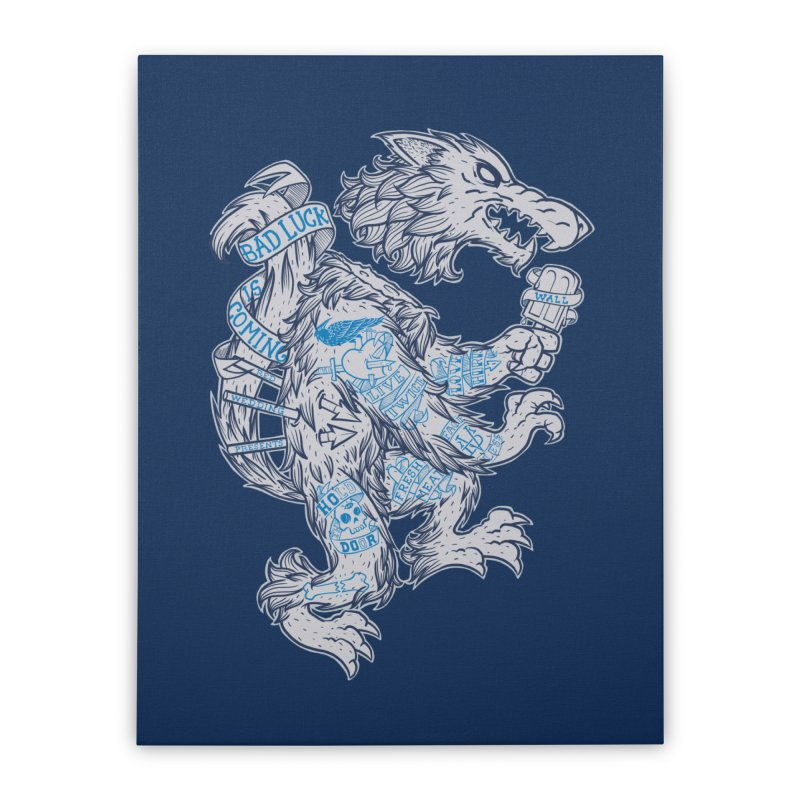 wolf spoiler crest Home Stretched Canvas by spike00