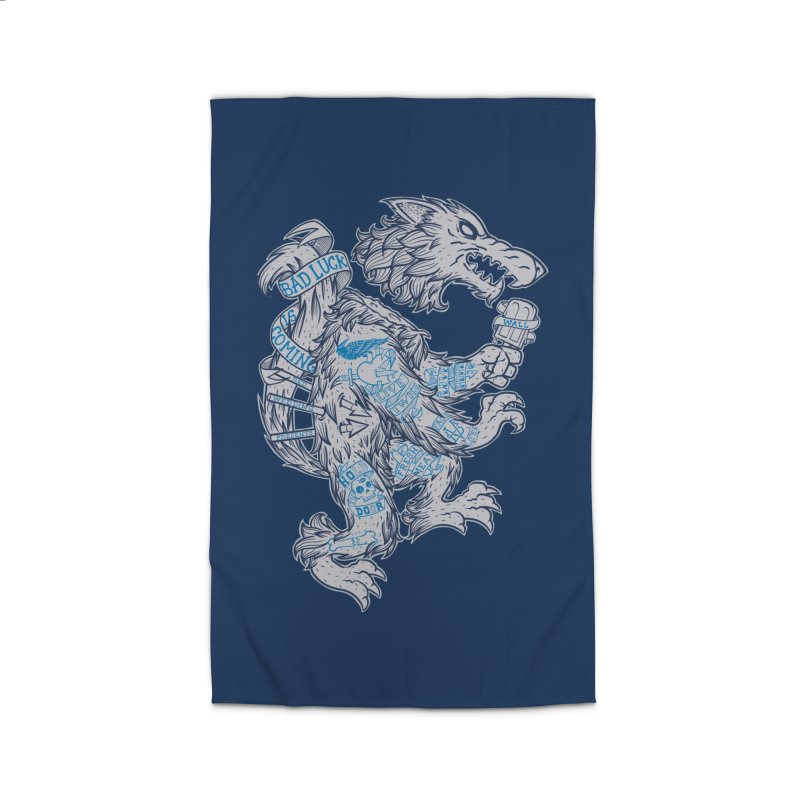 wolf spoiler crest Home Rug by spike00