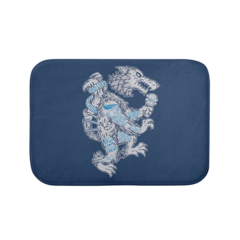 wolf spoiler crest Home Bath Mat by spike00