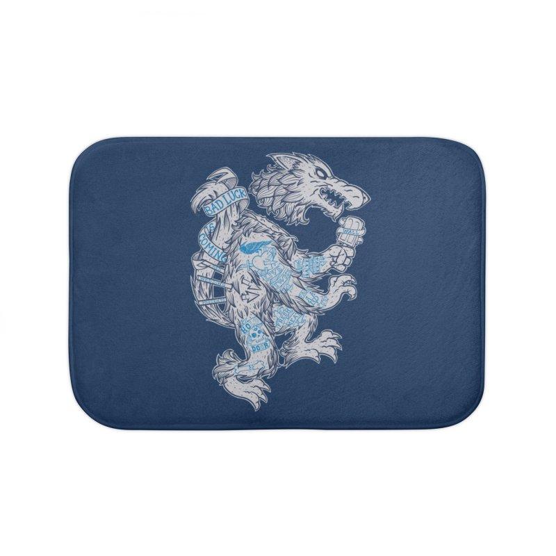 wolf spoiler crest Home Bath Mat by spike00