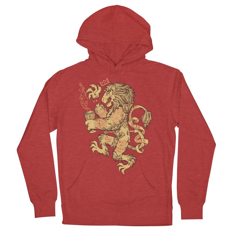 Lion Spoiler Crest Men's French Terry Pullover Hoody by spike00