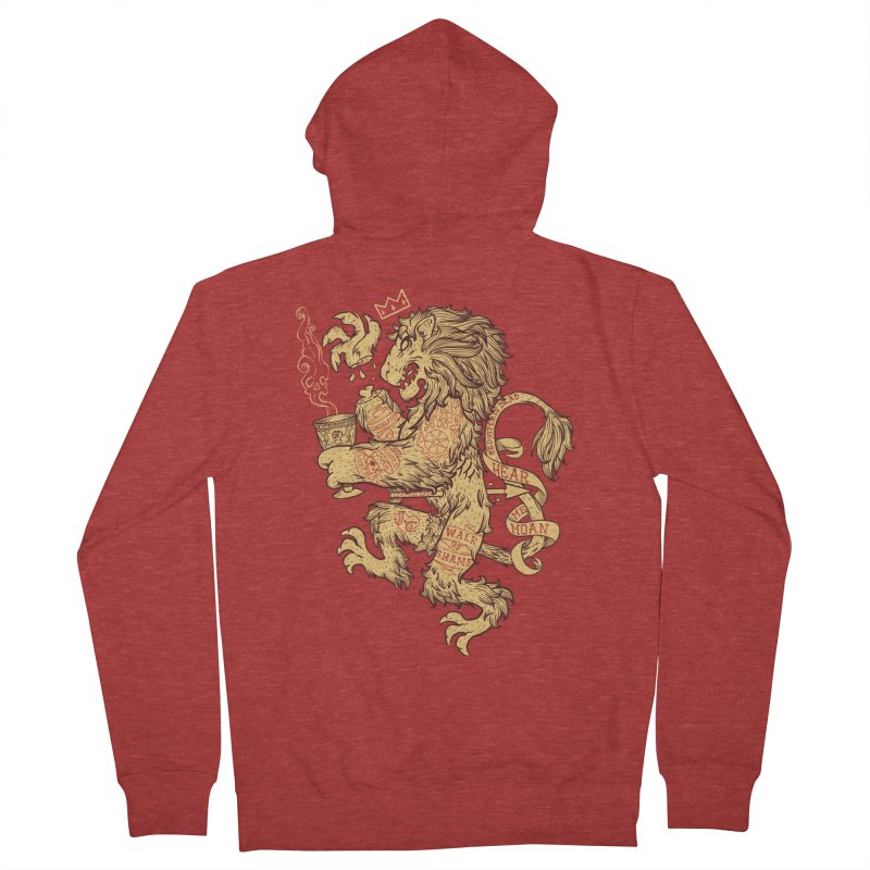 Lion Spoiler Crest Men's French Terry Zip-Up Hoody by spike00