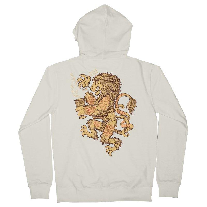 Lion Spoiler Crest Men's Zip-Up Hoody by spike00