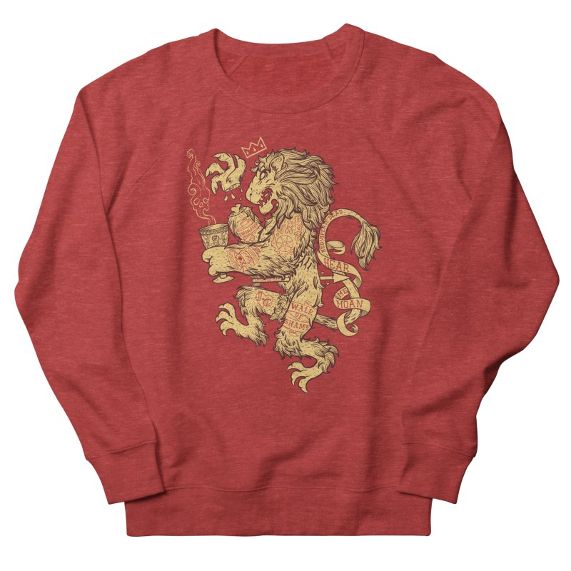 Lion Spoiler Crest Men's French Terry Sweatshirt by spike00