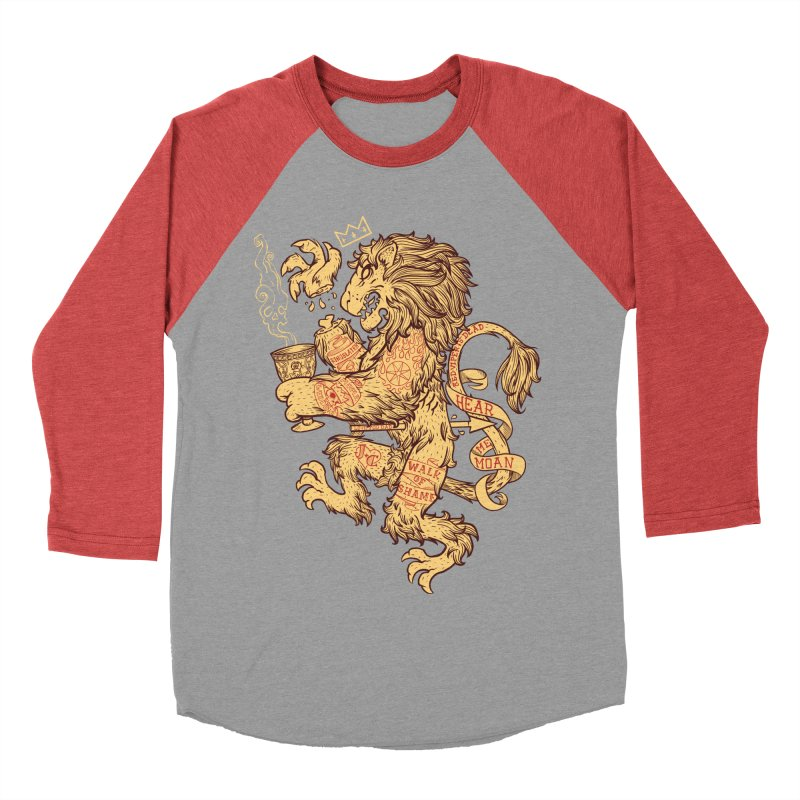Lion Spoiler Crest Men's Baseball Triblend T-Shirt by spike00