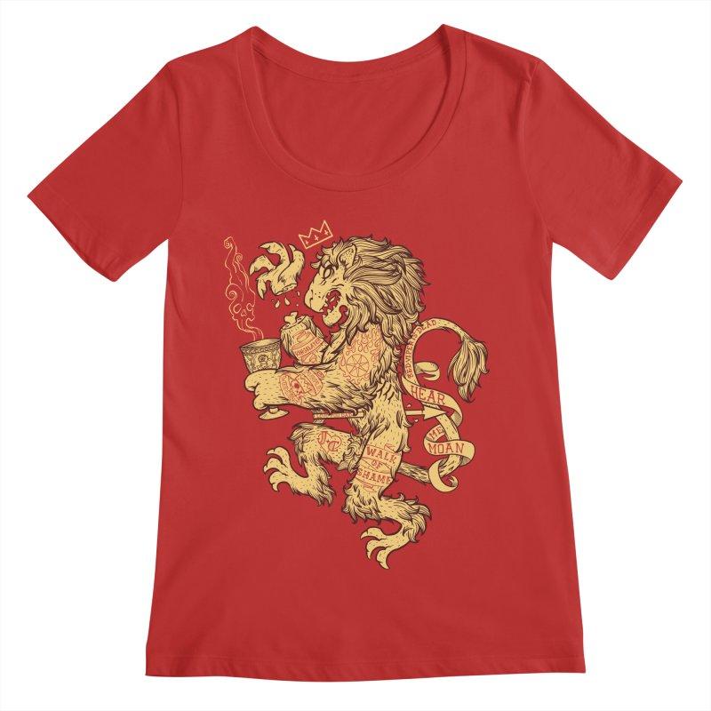 Lion Spoiler Crest Women's Regular Scoop Neck by spike00
