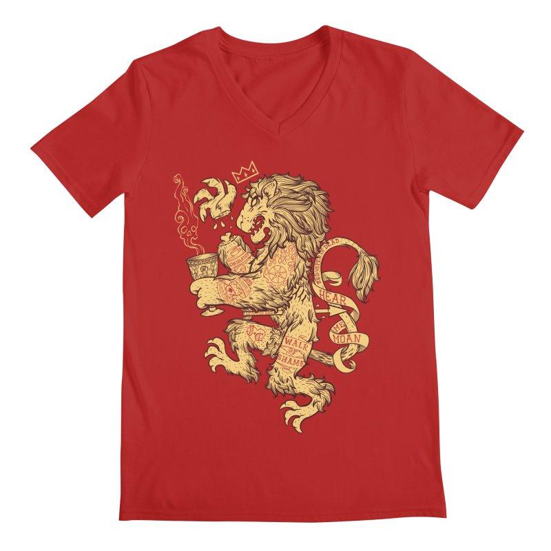 Lion Spoiler Crest Men's V-Neck by spike00