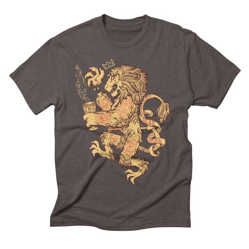 Lion Spoiler Crest Men's Triblend T-shirt by spike00