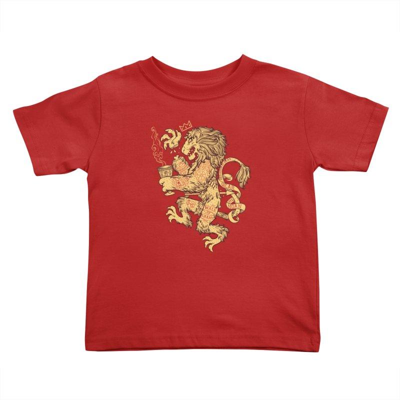 Lion Spoiler Crest Kids Toddler T-Shirt by spike00