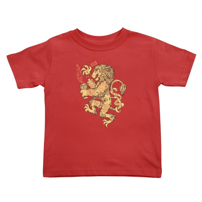 Lion Spoiler Crest Kids Toddler T-Shirt by spike00