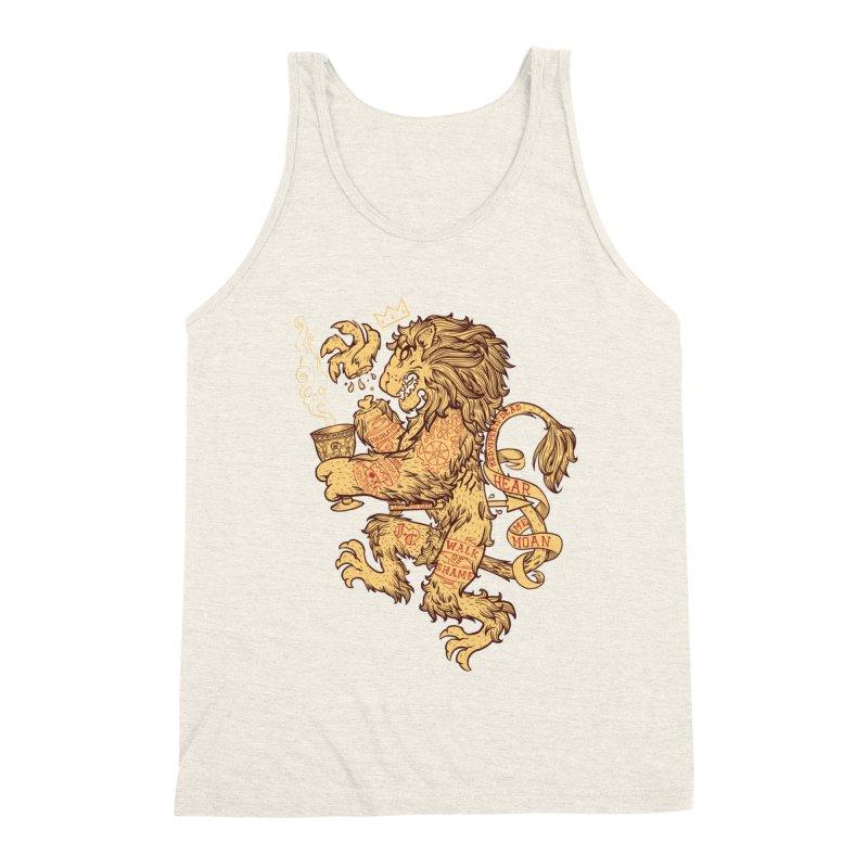 Lion Spoiler Crest Men's Triblend Tank by spike00