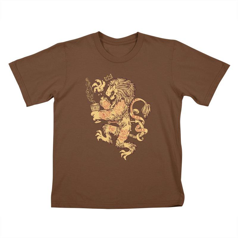 Lion Spoiler Crest Kids T-shirt by spike00