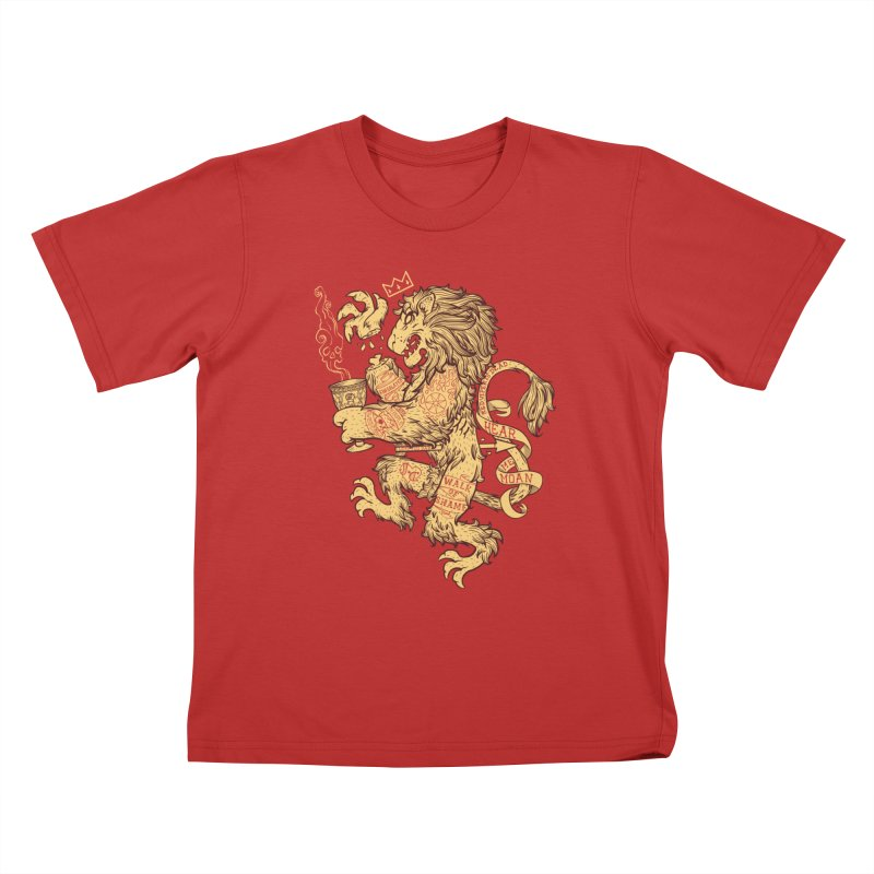 Lion Spoiler Crest Kids T-Shirt by spike00