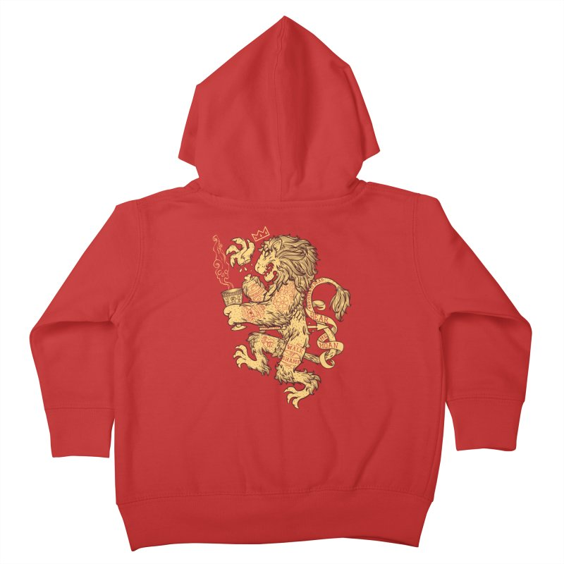 Lion Spoiler Crest Kids Toddler Zip-Up Hoody by spike00