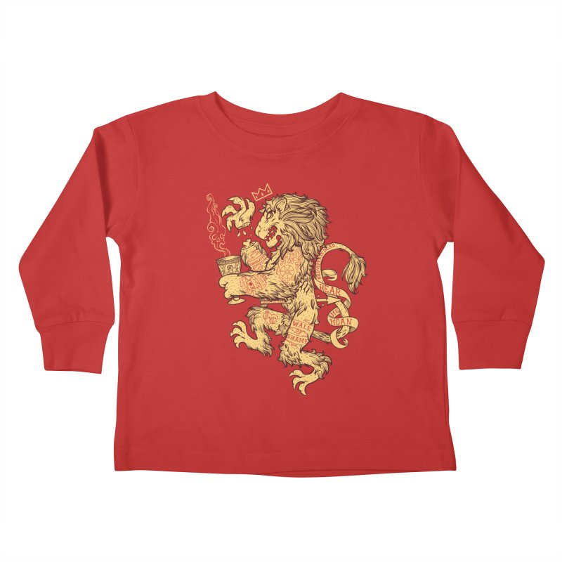 Lion Spoiler Crest Kids Toddler Longsleeve T-Shirt by spike00