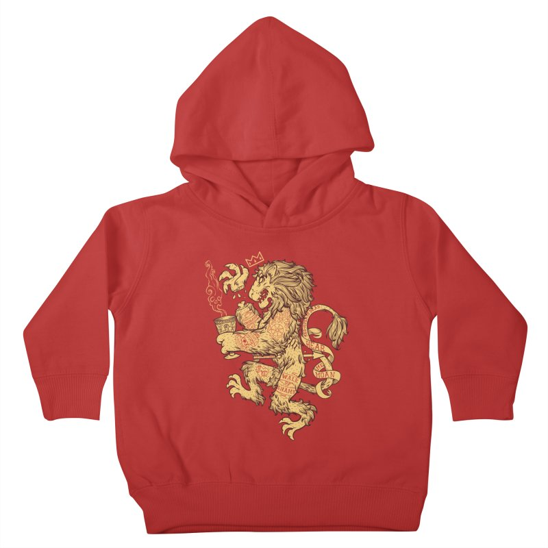 Lion Spoiler Crest Kids Toddler Pullover Hoody by spike00