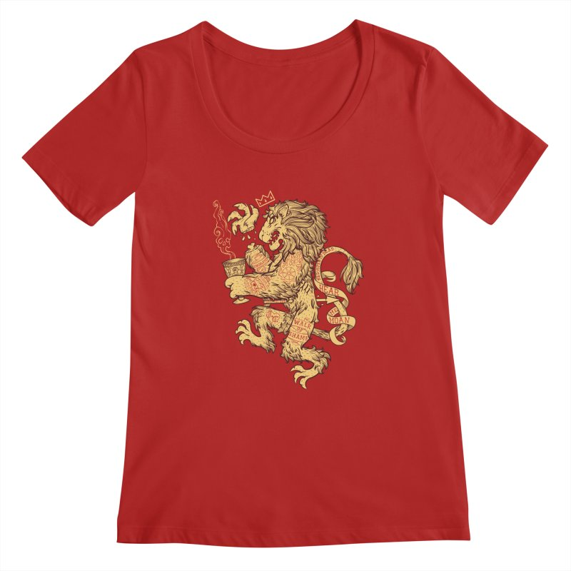 Lion Spoiler Crest Women's Scoopneck by spike00