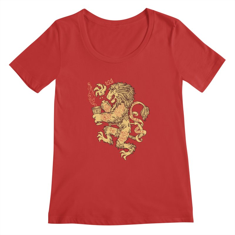 Lion Spoiler Crest Women's Regular Scoop Neck by spike00