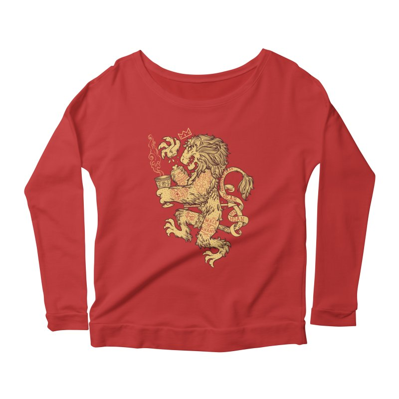 Lion Spoiler Crest Women's Scoop Neck Longsleeve T-Shirt by spike00