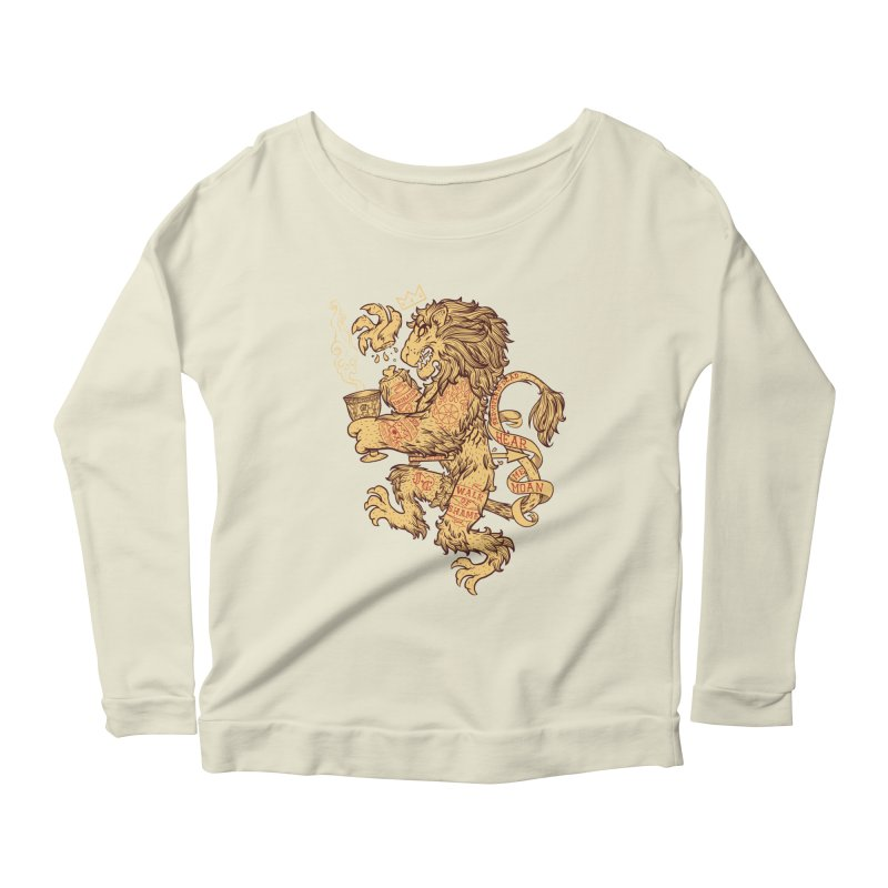 Lion Spoiler Crest Women's Scoop Neck Longsleeve T-Shirt by spike00