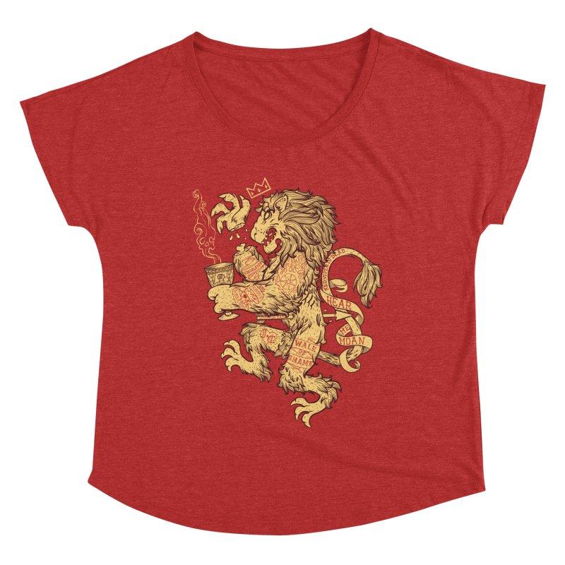 Lion Spoiler Crest Women's Dolman Scoop Neck by spike00