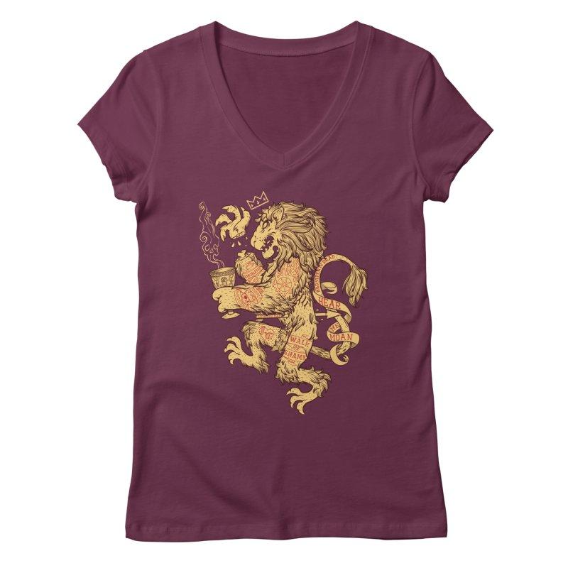 Lion Spoiler Crest Women's Regular V-Neck by spike00