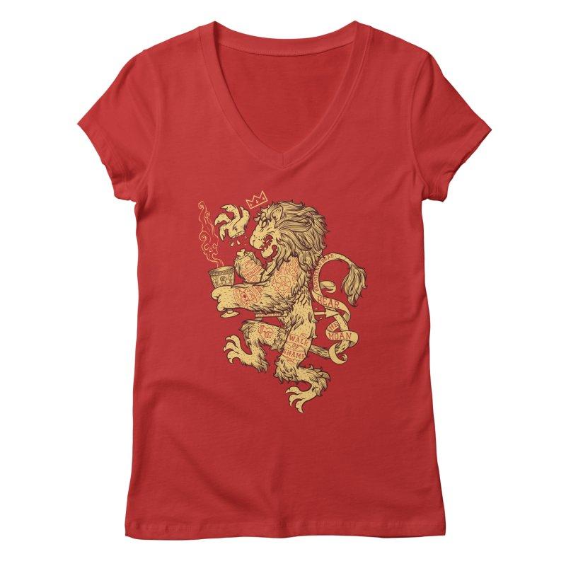 Lion Spoiler Crest Women's V-Neck by spike00