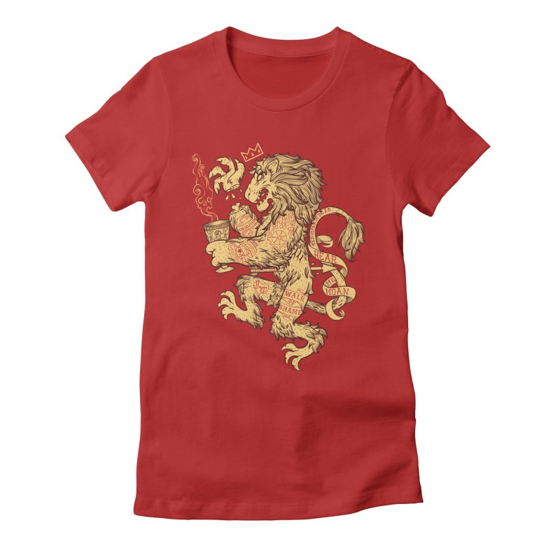 Lion Spoiler Crest Women's Fitted T-Shirt by spike00