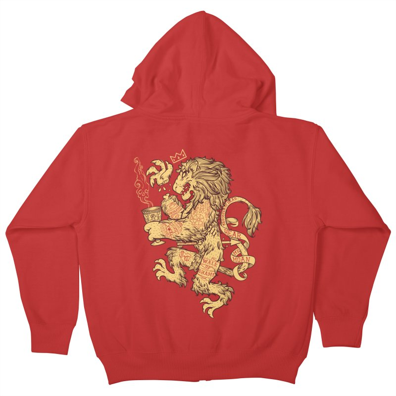 Lion Spoiler Crest Kids Zip-Up Hoody by spike00