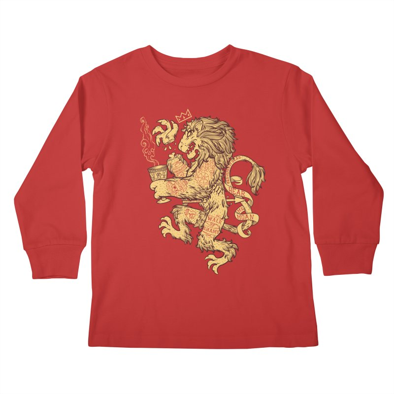 Lion Spoiler Crest Kids Longsleeve T-Shirt by spike00