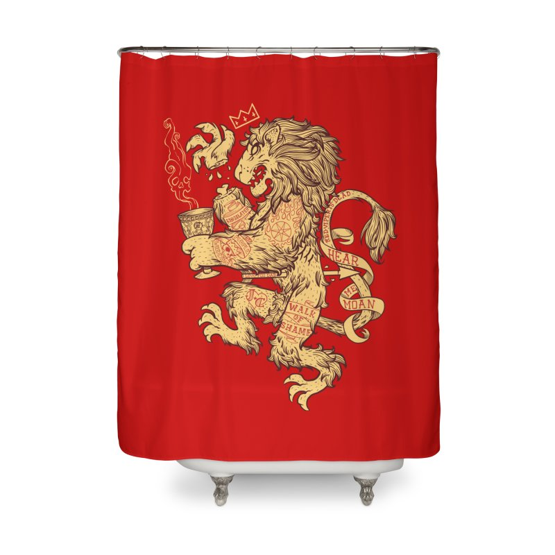 Lion Spoiler Crest Home Shower Curtain by spike00