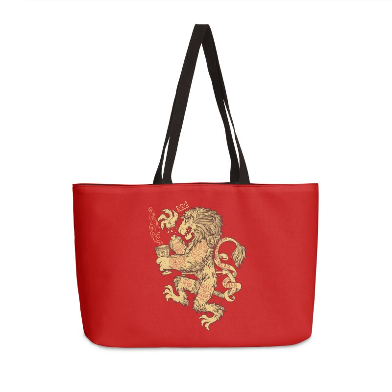 Lion Spoiler Crest Accessories Weekender Bag Bag by spike00