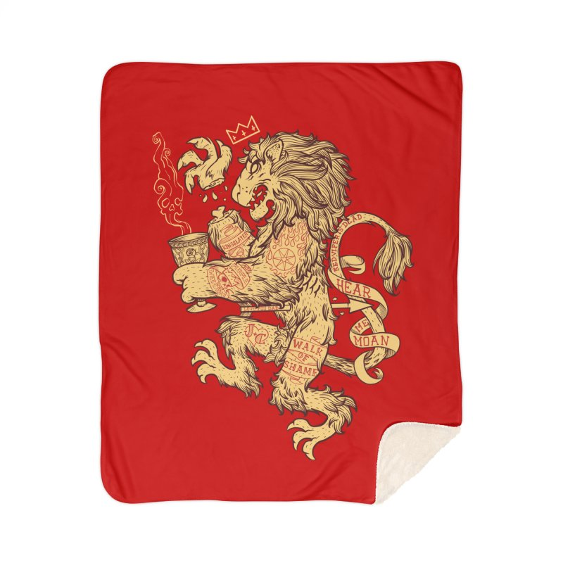 Lion Spoiler Crest Home Sherpa Blanket Blanket by spike00