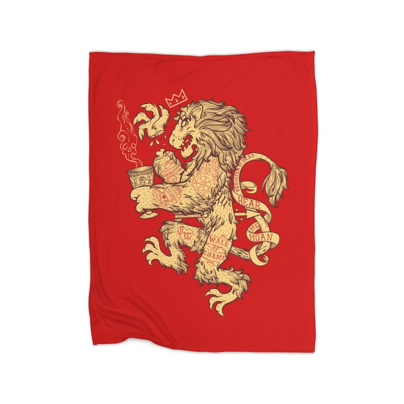 Lion Spoiler Crest Home Fleece Blanket Blanket by spike00