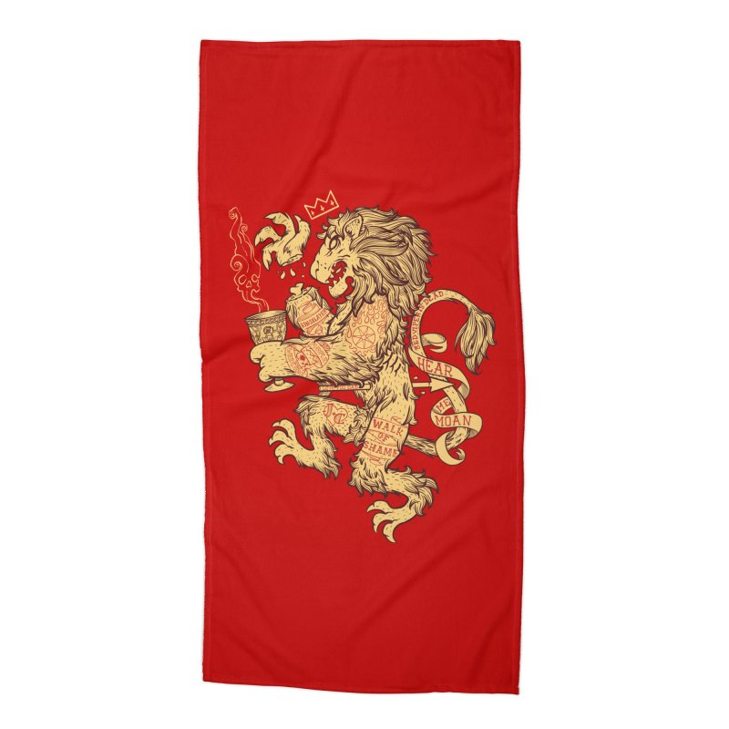 Lion Spoiler Crest Accessories Beach Towel by spike00