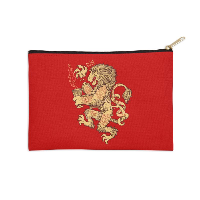 Lion Spoiler Crest Accessories Zip Pouch by spike00