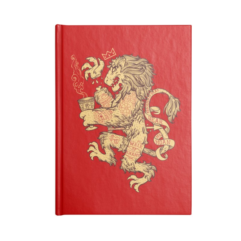 Lion Spoiler Crest Accessories Blank Journal Notebook by spike00