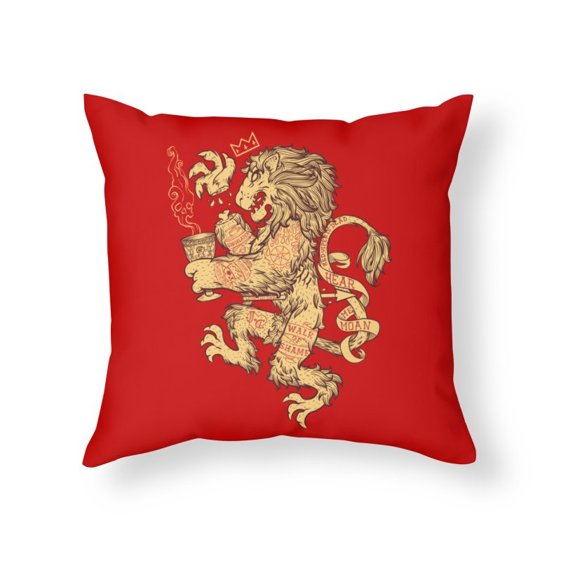 Lion Spoiler Crest Home Throw Pillow by spike00
