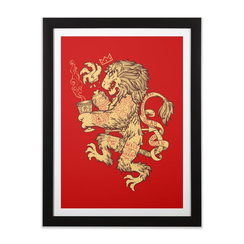 Lion Spoiler Crest Home Framed Fine Art Print by spike00