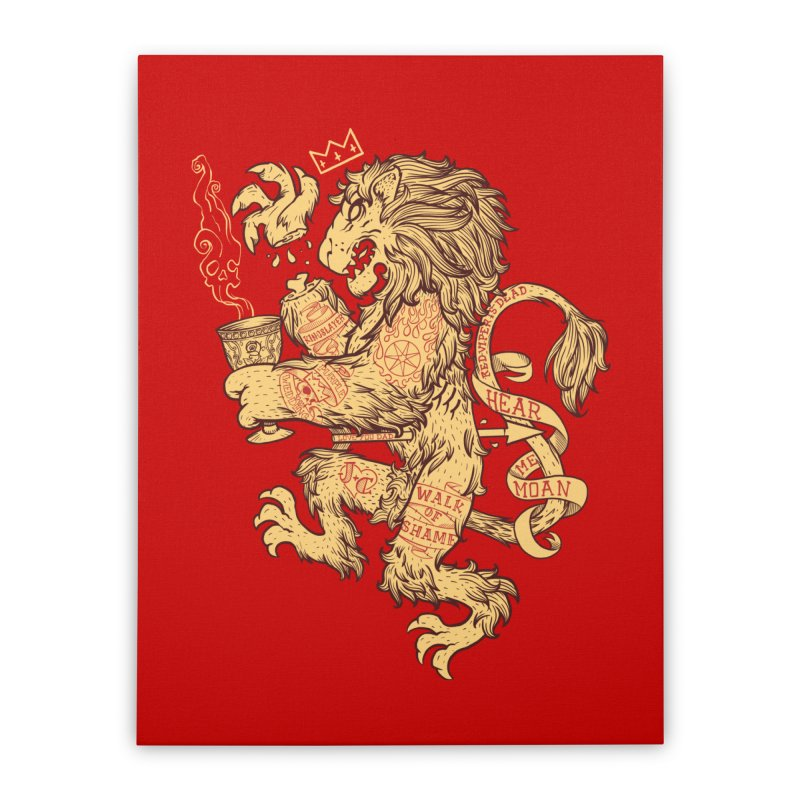 Lion Spoiler Crest Home Stretched Canvas by spike00