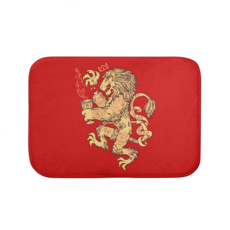 Lion Spoiler Crest Home Bath Mat by spike00