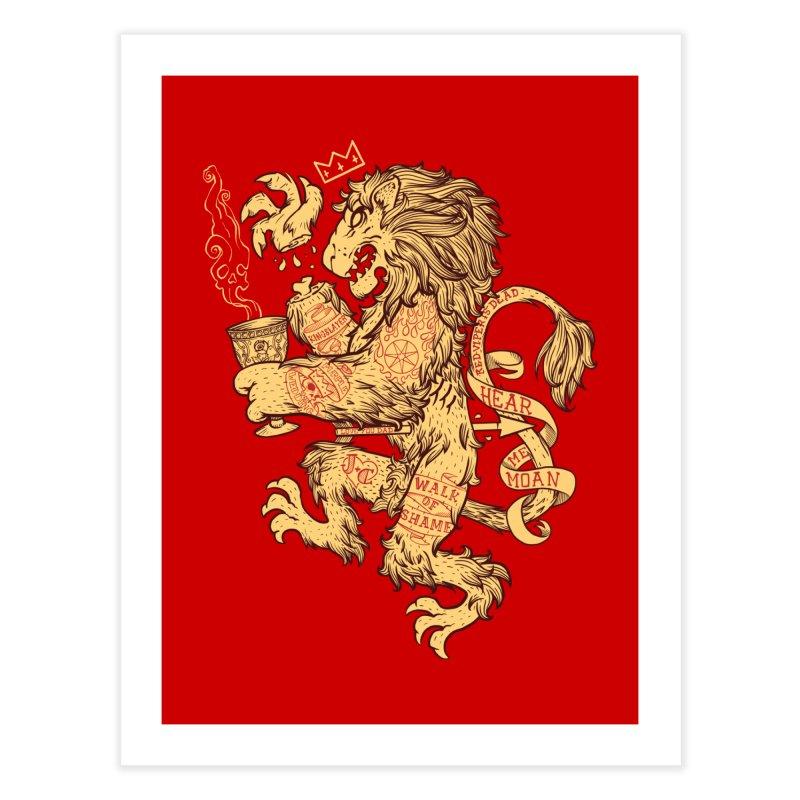 Lion Spoiler Crest Home Fine Art Print by spike00