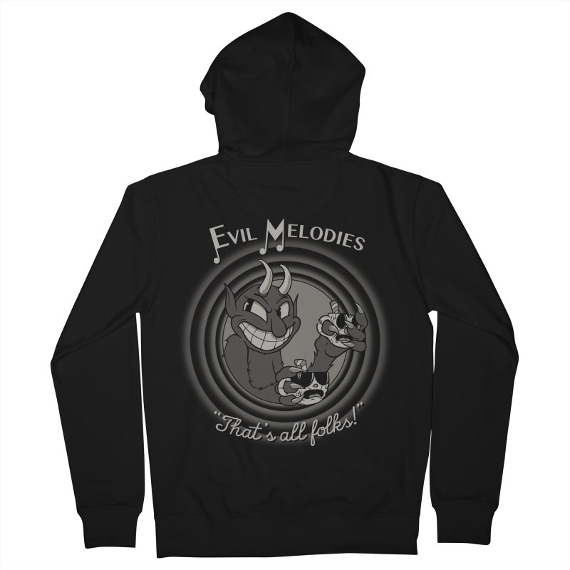 Evil Melodies Men's French Terry Zip-Up Hoody by spike00