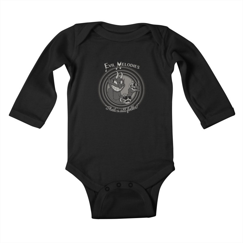 Evil Melodies Kids Baby Longsleeve Bodysuit by spike00