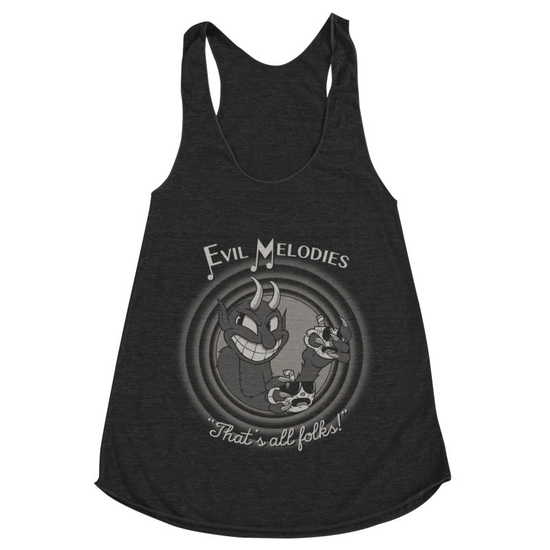 Evil Melodies Women's Racerback Triblend Tank by spike00