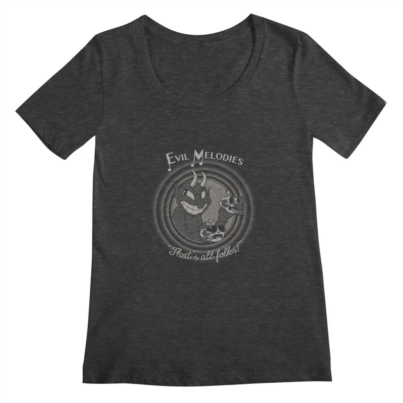 Evil Melodies Women's Scoopneck by spike00