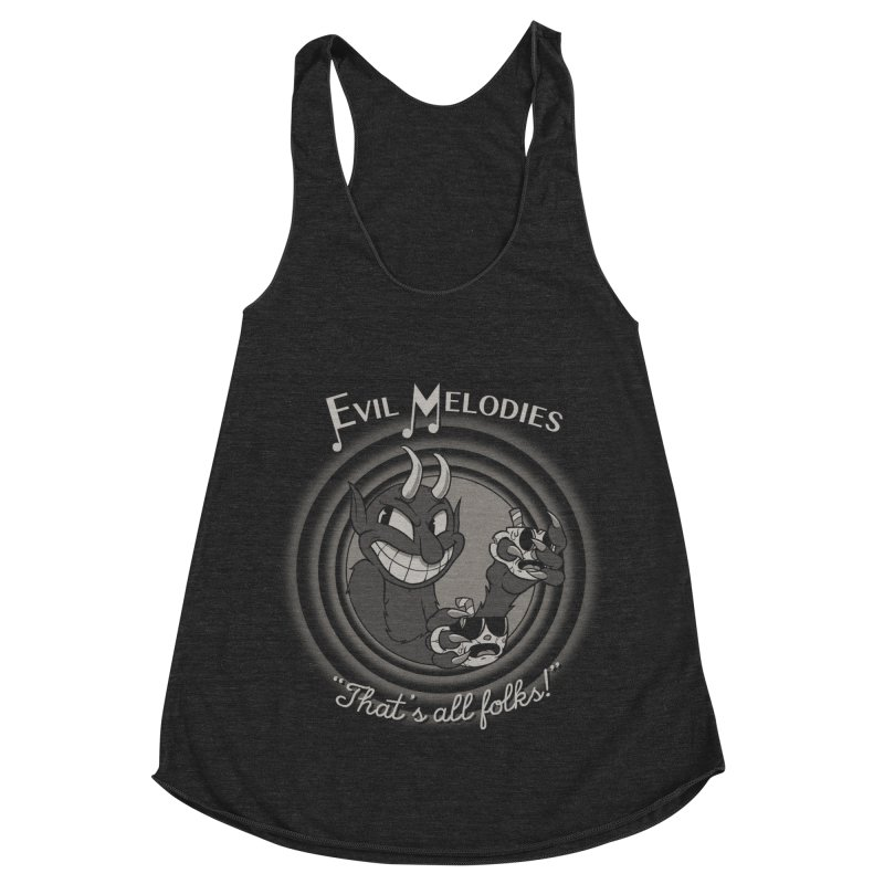 Evil Melodies Women's Racerback Triblend Tank by spike00