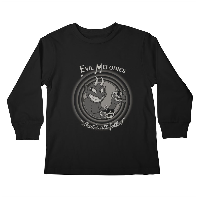 Evil Melodies Kids Longsleeve T-Shirt by spike00