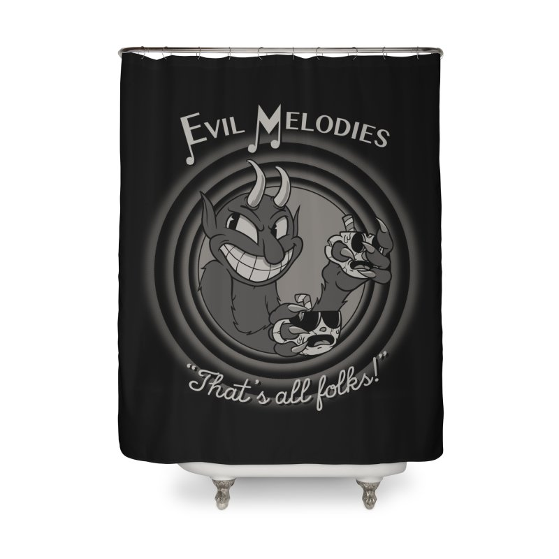 Evil Melodies Home Shower Curtain by spike00