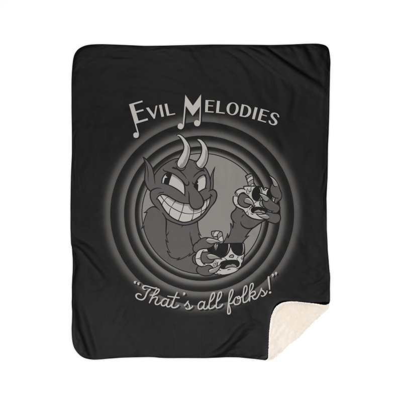 Evil Melodies Home Sherpa Blanket Blanket by spike00